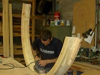 At work in the joinery workshop